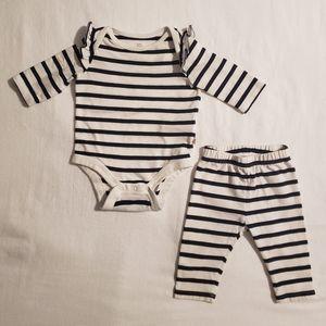 Baby Gap Striped Onsie and Leggings
